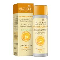 Biotique Bio Sandalwood 50+ SPF Sunscreen Ultra Soothing Face Lotion