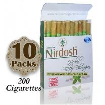 Nirdosh Herbal Cigarettes (Export Quality) - 10 packs