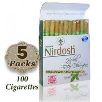 Nirdosh Herbal Cigarettes (Export Quality) - 5 packs
