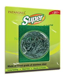 Patanjali Super Dishwash Super Steel Scrub With Scrub Pad